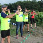 épreuve de sarbacane interentreprises dans les vignes à Nantes
