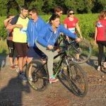 épreuve de biathlon inter-entreprises dans les vignes
