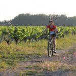 épreuve de biathlon interentreprises dans les vignes à Nantes