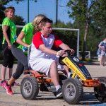 épreuve de karting à pédale inter-entreprises à Quimper