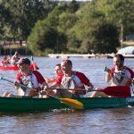 Epreuve de kayak inter-entreprises à Quimper