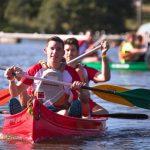 épreuve de kayak inter-entreprises Creach Gwen