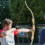 épreuve de tir à l'arc interentreprises en Bretagne