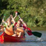 épreuve de kayak interentreprises à Quimper