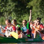 épreuve de kayak inter-entreprises à Quimper